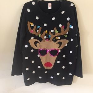 Holiday Times womens Reindeer Xmas Sweater